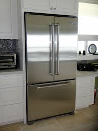 modern stainless glass door refrigerator for home with a freezer