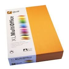 quill coloured paper 80gsm a4 orange 500 sheet ream officeworks