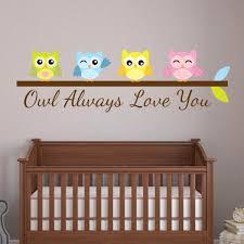 Nursery Owl Wall Decals Nursery Wall Decals Wall Decal World