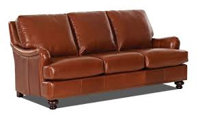 Orange Leather Chair English Toffee Leather Sofa The Dump America U0027s Furniture Outlet
