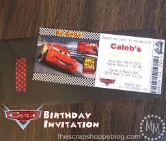 cars birthday invitation the scrap shoppe