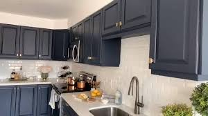 painting kitchen cabinets grey blue kitchen cabinet makeover complete fusion mineral paint