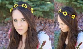 sunflower headband the chic country girl diy fashion boho sunflower headband