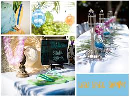 themed bridal shower decorations luau themed bridal shower