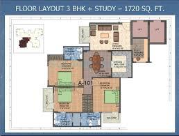 1300 sq ft apartment floor plan 3 bhk 1300 sq ft apartment for sale in shiv sai vatika