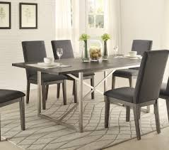 furniture outstanding brushed stainless steel dining chairs good stupendous brushed metal dining room table modern industrial grey wood brushed metal dining set