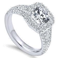 white gold halo engagement rings 14k white gold halo vault jewelers