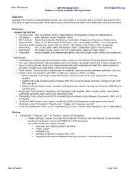 basic resume outline objective sle qa resume objective copy ideas test analyst sle resume