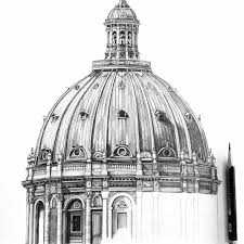 half way through this dome copenhagen drawing architecture