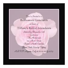wording for bridal luncheon invitations bridesmaid luncheon invitations announcements zazzle