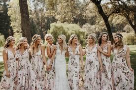 floral bridesmaid dresses riot founder s napa farm wedding green wedding shoes