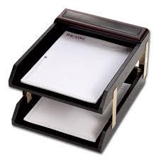 Leather Desk Accessories Organizers by D8420 Walnut U0026 Leather 10 Piece Desk Set
