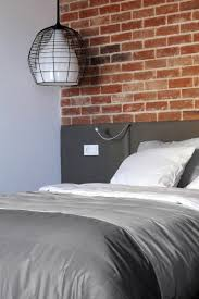 Small Modern Grey Bedroom Contemporary Bedroom Pendant Lighting In Industrial Style Interior