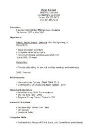 basic resume exles basic resume exles for high school students template s