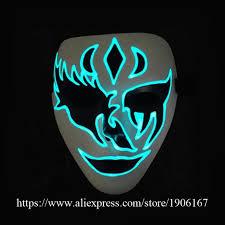 anonymous mask 5pcs vendetta el wire mask led mask costume