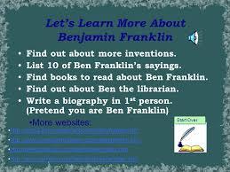 u0027s learn benjamin franklin listen