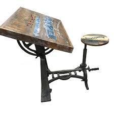 Adjustable Drafting Table With Stool Adjustable Drafting Table