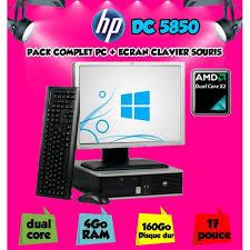 pc bureau avec ecran ordinateur de bureau hp 5850 amd dual avec ecran 17 prix