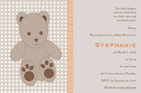 teddy bear baby shower invitations teddy bear postcard in mushroom invitation