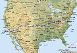 Race Map Of America by Sheufelt Helps Blaze A Trail To Race Across America Record
