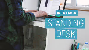 Standing Height Desk Ikea by Ikea Hack Diy Standing Desk Charlimarietv Youtube