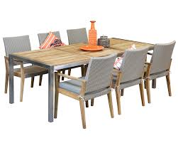 6 seater outdoor dining table stainless steel outdoor dining sets colibri 6 seater westrock