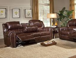 catchy reclining leather sofa sets with top reclining leather sofa