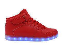 light up sneakers galaxy led shoes high top light up sneakers for men and women red