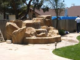 landscape designs with artificial rock waterfalls