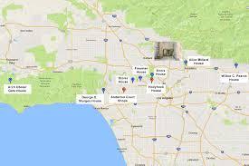 Map Of Burbank Ca Millard House Frank Lloyd Wright In Pasadena Ca