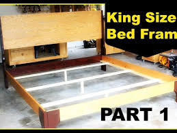 King Size Pine Bed Frame Bed Frame Furniture Bedroom Unstained Pine Wood Pallet Bed Frame
