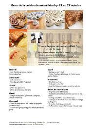 pour faire la cuisine menus du 21 au 27 octobre dans la cuisine de mémé moniq cuisine de