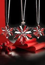 Swarovski Christmas Snowflake Ornaments by Swarovski Crystal Christmas Figurine Ornament Little Snowflake