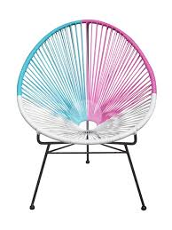 Acapulco Outdoor Chair Replica Acapulco Lounge Chair White Blue Purple Suitable For