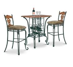 Dining Room Table With Wine Rack 3 Bar Table Set With Wine Rack Base Bar Table