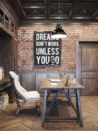 Rustic Home Interiors 25 Awesome Rustic Home Office Designs Office Designs Interiors