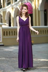 purple long party formal evening maxi dress bridesmaid dresses