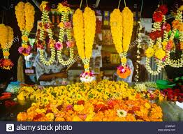 Flower Shops by Indian Flower Shop Georgetoiwn Penang Malaysia Stock Photo