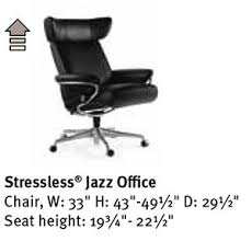 Stressless Jazz Office Desk Chair by Ekornes Seating Furniture