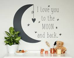 i you to the moon and back your decal shop nz designer wall