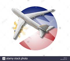 Flag Philippines Picture Plane And Philippines Flag Stock Photo Royalty Free Image