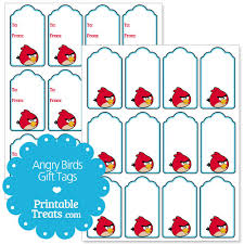 angry birds printable gift tags u2014 printable treats