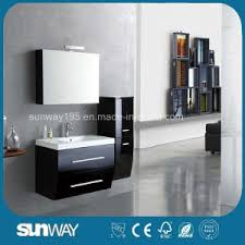 Black Painted Bathroom Cabinets Adorable 80 Painting Mdf Bathroom Cabinets Design Ideas Of How To