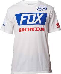 fox motocross t shirts fox racing honda basic standard t shirt mens short sleeve