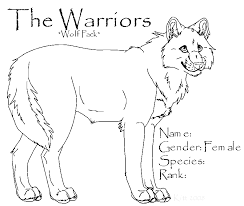Warriors Wolf Female Template By Thewarriors Wolfpack On Deviantart Wolf Pack Coloring Pages