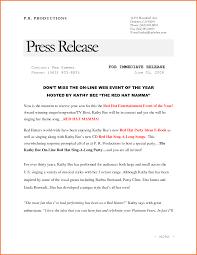 Bio Letter Sample Press Release Format Bio Letter Sample
