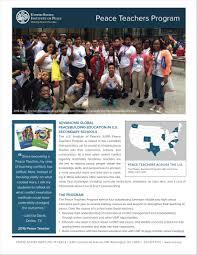 peace teachers program united states institute of peace