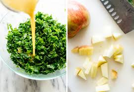 comment cuisiner le kale kale apple salad with granola croutons cookie and kate