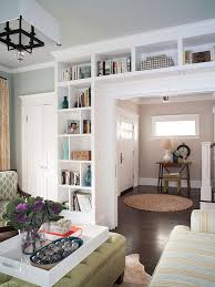 an open and family friendly home makeover bookcases built in