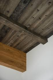 the ceiling is clad in cedar finished with steel wool vinegar and